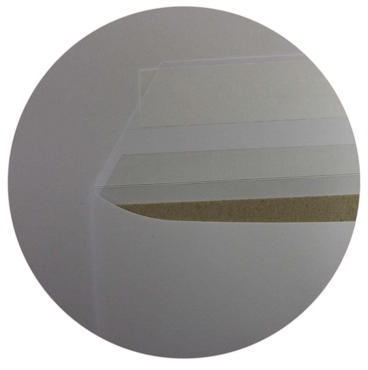 50 Stück -  C4 Umschläge Fenster Papprückwand Versandtaschen komplett weiß haftklebend