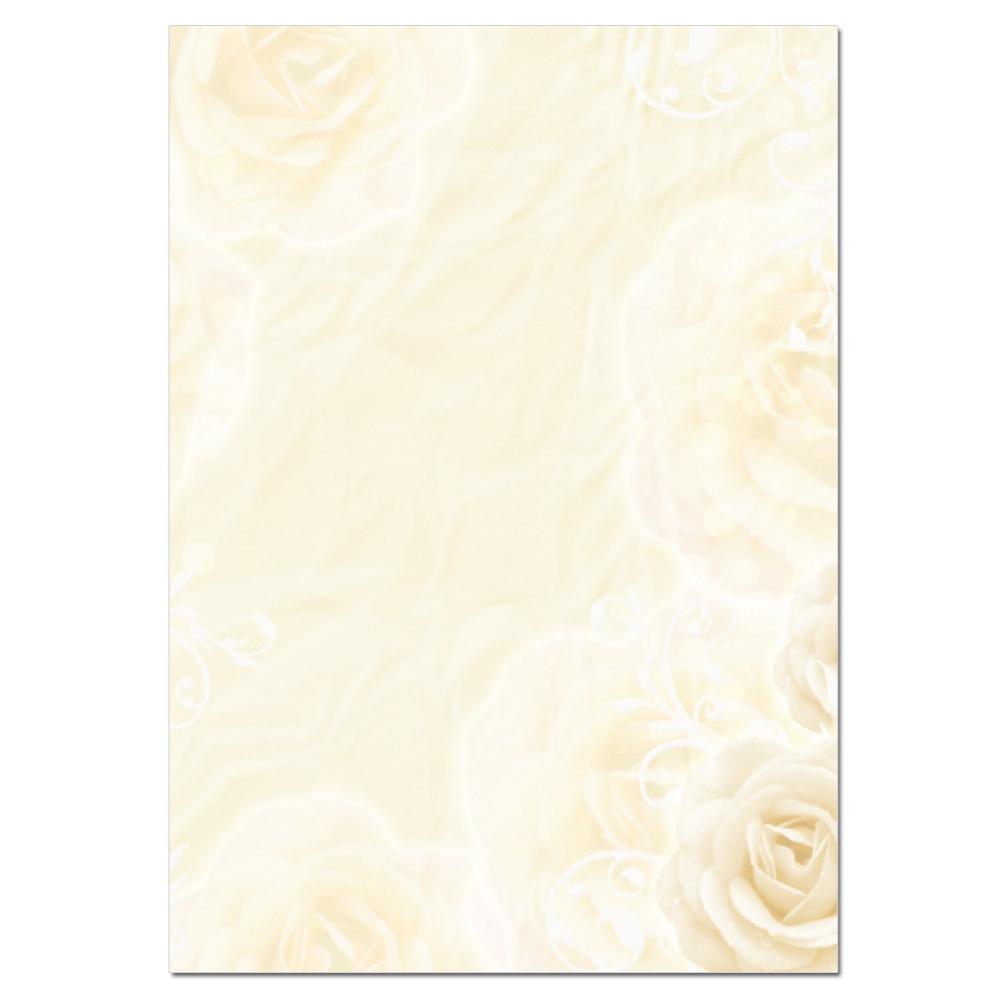 farbiges briefpapier gelb mit einem blumenmotiv im din a4 format, Einladungen