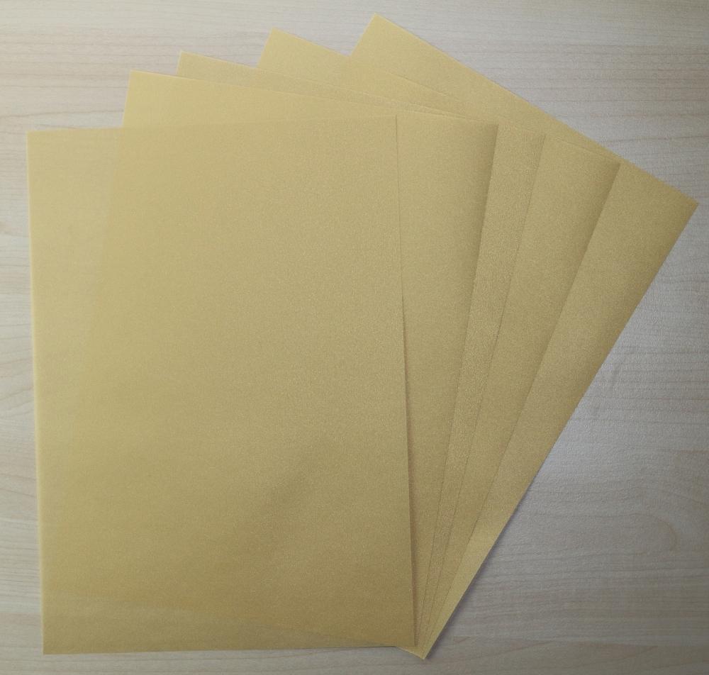 50 Blatt DIN A3 Transparentpapier Zanders Spectral 100g Farbe Creme transparent