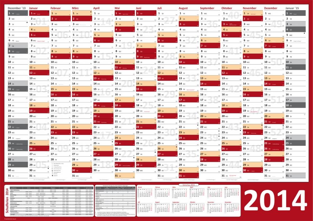Wandkalender  Bürobedarf  einebinsenweisheit