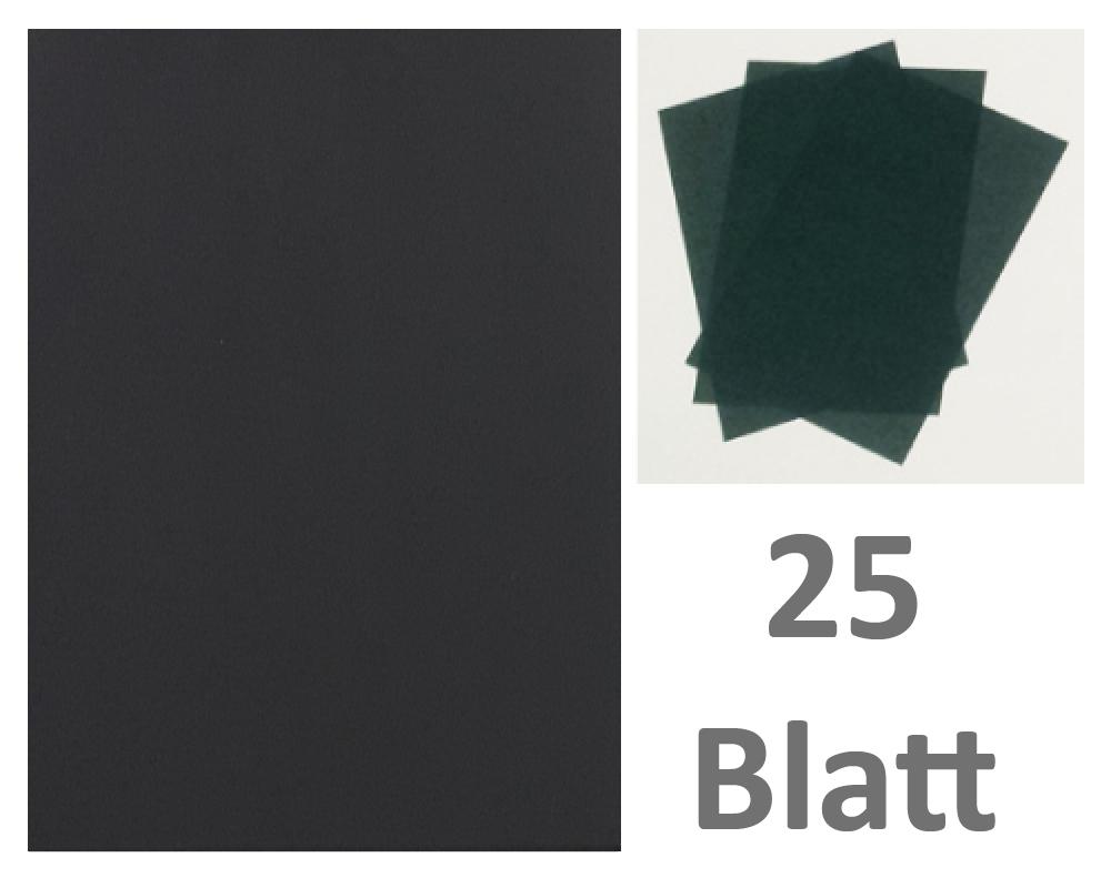 25 Blatt DIN A3 Gmund Transparentpapier 100g Farbe schwarz transparent FPA-125