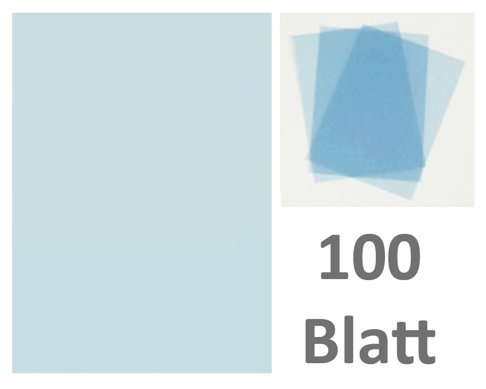 FPA-126 50 Blatt DIN A7 Gmund Transparentpapier 100g Farbe weiß transparent